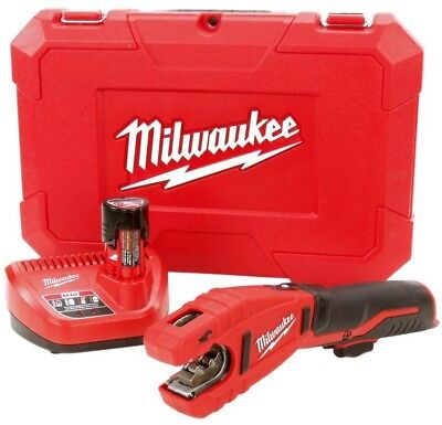 £180.06 • Buy Milwaukee M12 Copper Tubing Cutter Kit 12 Volt Cordless Charger Battery Case