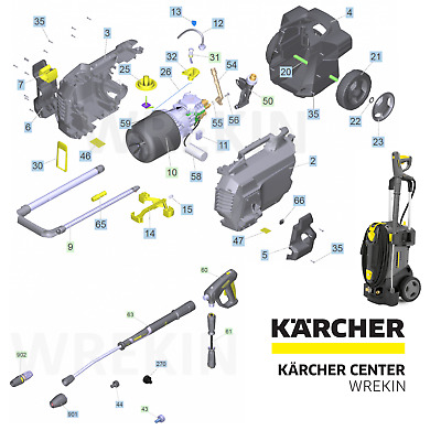 £9.75 • Buy Karcher Hd 6/13 Spare Parts List Pressure Washer Repair 1.520-954.0 Commercial