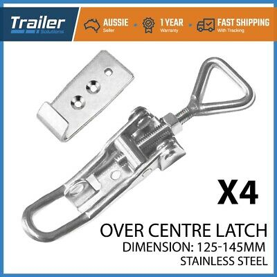 AU38.95 • Buy X4 TOGGLE FASTENER OVER CENTRE STAINLESS STEEL OVERCENTRE LATCH TRAILER UTE 4WD