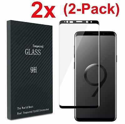 $ CDN3.86 • Buy Samsung Galaxy S9 S8 Plus Note 8/9 4D Full Cover Tempered Glass Screen Protector