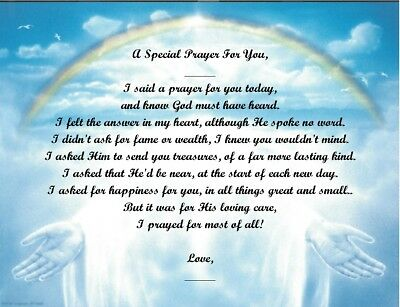 A Special Prayer For You Personalized Poem Gift #5 (For Aunt Thru Granddaughter) • 6.60£