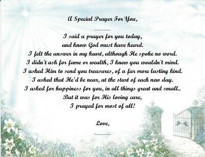 A Special Prayer For You Personalized Poem Gift #7 (For Aunt Thru Granddaughter) • 6.60£
