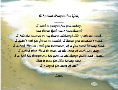 A Special Prayer For You Personalized Poem Gift #2 (For Aunt Thru Granddaughter) • 6.60£