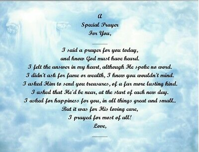 A Special Prayer For You Personalized Poem Gift #3 (For Aunt Thru Granddaughter) • 6.60£