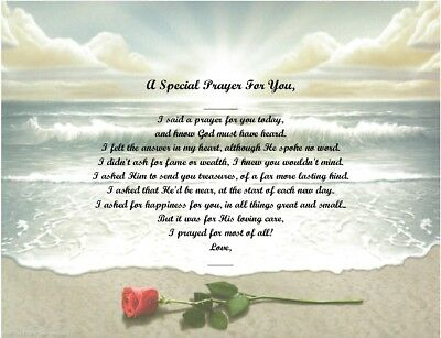 A Special Prayer For You Personalized Poem Gift #6 (For Aunt Thru Granddaughter) • 6.60£