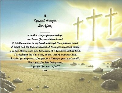 A Special Prayer For You Personalized Poem Gift #8 (For Aunt Thru Granddaughter) • 6.60£