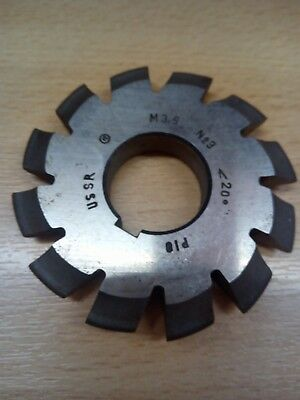 £10.65 • Buy Gear Cutter Involute Module M3,5 No3  20° HSS OLD STOCK NEW