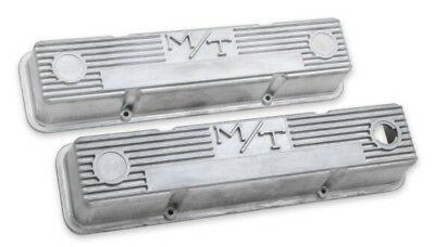 $195.95 • Buy Chevy Small Block M/T Vintage Style Finned Valve Covers Holley 241-86