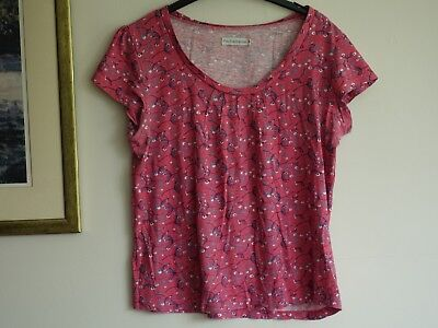 Pretty PACHAMAMA  Cap Sleeve Cotton Top Size 3 14 • 4.85£