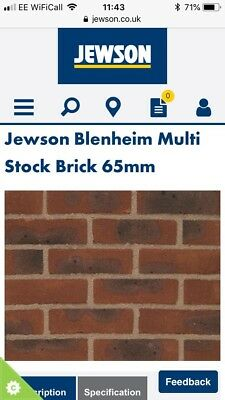 Cheap Bricks Ibstock Jewson Bleinham Multi Stock Bricks • 250£