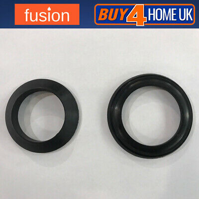 £1.98 • Buy Fusion Basin Pop Up Waste Seals X2 Black Pair - Replacement Washers Click Clack