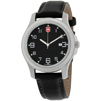 View Details Victorinox Garrison Elegance Black Dial Leather Strap Men's Watch 26052CB • 33.99$