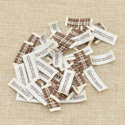 Handmade Woven Label Garment Tags Fabric Making Accessories Sewing Embroidery • 0.99£