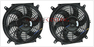 AU67.50 • Buy Universal Two 9 Inch 12V Volt Electric Cooling Fan Thermo Fan + Mounting Kits
