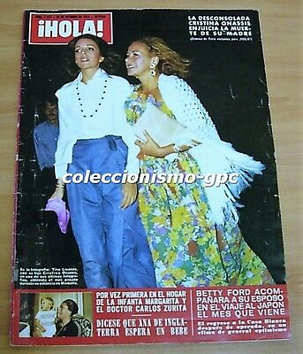 $ CDN14.11 • Buy HOLA 1574 CHRISTINA ONASSIS TINA LIVANOS Tribute 1974 GRACE KELLY MICHELE MORGAN
