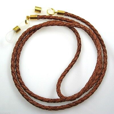 AU12.99 • Buy Leather Cord Sunglasses Reading Glasses Spectacles Eyeglass Holder Strap Chain