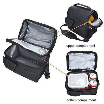 AU17.99 • Buy Compartment Insulated Lunch Bag Storage Cooler Bag School Picnic Work Outdoor 8L