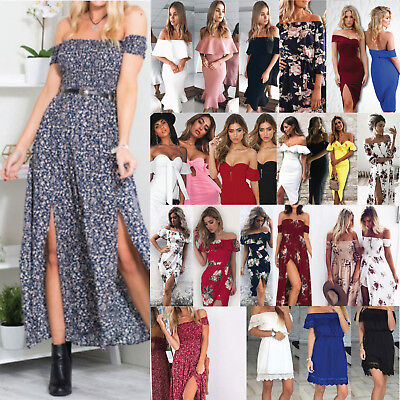 AU16.55 • Buy Woman Sexy  Shopping Summer Casual Polyester Printed Plain Evening Dinner Dress