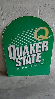 Vintage Collectable Original Quaker State Tombstone Sign, Gas/Oil, Automobile • 120$