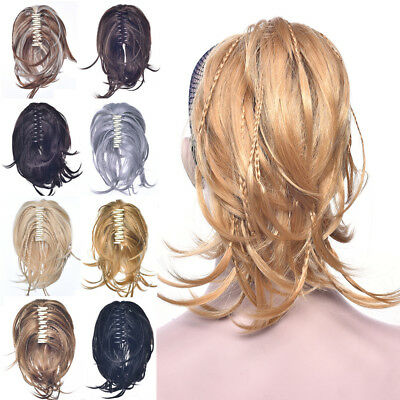 £9.97 • Buy Claw On Thick Messy Ponytail Braids Piece Bun Pony Tail Synthetic Hair Extension