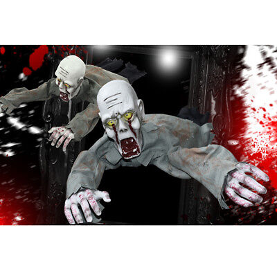 $ CDN46.11 • Buy Scary Halloween Crawling Ghost Prop Animated Haunted House Party Floor Decor