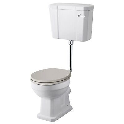 Hudson Reed Richmond Low Level Toilet With Lever Cistern - Excluding Seat • 136.95£