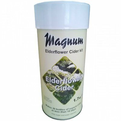 Magnum ELDERFLOWER Cider Kit - Home Brewing - 14 Day 30 Bottles Making • 17.99£