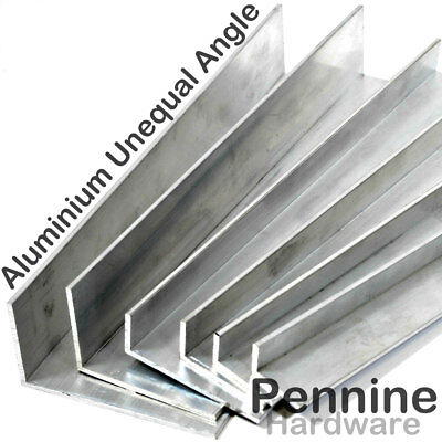 £3.99 • Buy ALUMINIUM UNEQUAL Extruded ANGLE UK Bandsaw Cut Special Lengths Cut To Order