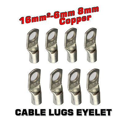 AU14.24 • Buy 16MM² Cable Lug Terminal SC16MM²- 6/8mm Battery Wire 5AWG Connector Copper End