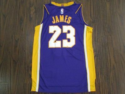 9d61ca193 NWT Los Angeles Lakers LeBron James  23 Purple Mens Jersey S-2xl • 41.99