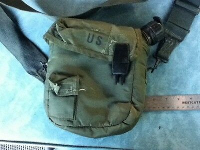 $ CDN22.72 • Buy US Military 2 QT Collapsible Water Canteen, Cover Pouch W / Sling