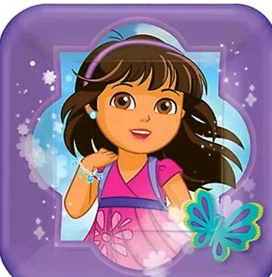 DORA AND FRIENDS Birthday Party Supplies (8pck) Small PAPER PLATES  • 1.43£