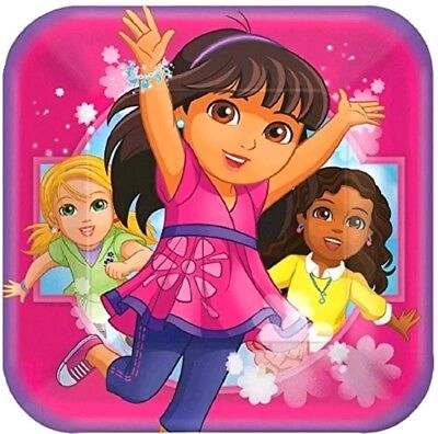 Dora The Explorer And Friends Birthday Party 9  Square Dinner Plates(8pack) • 1.77£