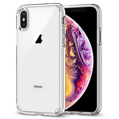 AU20.02 • Buy For IPhone X XS XS Max XR Case Spigen [ Ultra Hybrid ] Protective Clear Cover