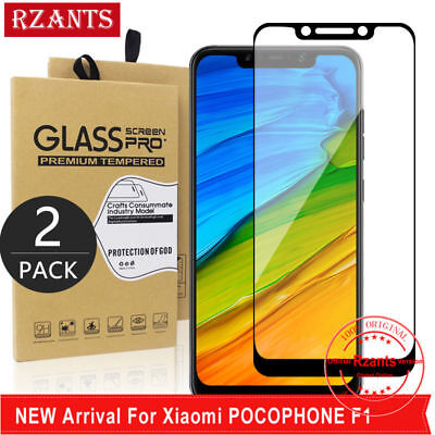 AU3.53 • Buy 2Pcs For Xiaomi Pocophone F1 Tempered Glass Screen Protector Film Full Cover