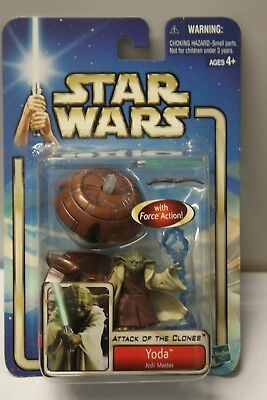 AU22.68 • Buy YODA JEDI MASTER #23 Star Wars Attack Clones 84615 2002 Action Figure Toys NEW