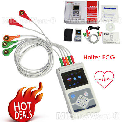 £230 • Buy NEW ECG Holter 3 Channel 24H Recorder Analyzer TLC9803 With PC Software