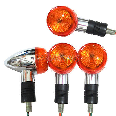 $15.94 • Buy 4x Chrome Turn Signals Lights Fit Suzuki Intruder Volusia VS VL 700 750 800 1400
