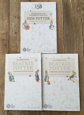 2016 2017 2018 BEATRIX POTTER 50p ROYAL MINT FIFTY PENCE COIN ALBUMS • 10.75£