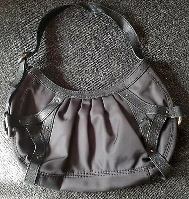 Mexx Black Hand Bag. Satin And Leather Look.  • 2.99£