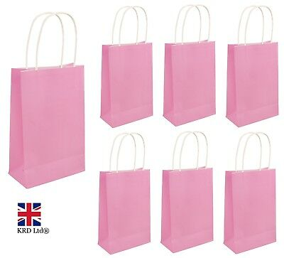 BABY PINK PARTY BAGS Kids Girls Birthday Favors Baby Shower Hen Goodies Gift UK • 3.40£
