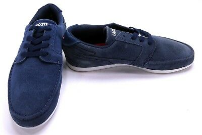 LaCoste Shoes Dreyfus CIW SPM Suede Navy Blue Sneakers Size 7 • 49.65£