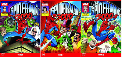 SPIDERMAN 5000 COMPLETE SERIES DVD VOLUME 1 2 3 MARVEL CARTOON ANIMATION UK Rele • 49.72£