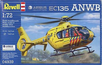 1:72 Scale Injection Molded Airbus Helicopter Ec135 Anwb • 11.34£