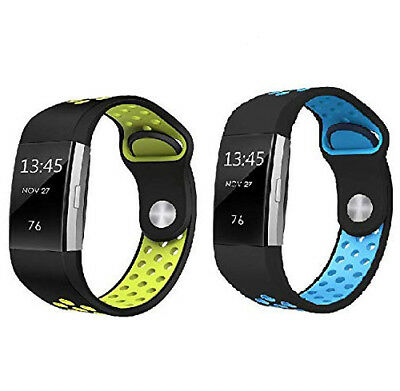 $ CDN9.99 • Buy Fitbit Charge 2 Bands, Silicone Bracelet Strap Replacement Breathable Band
