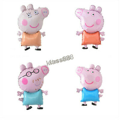 AU6.49 • Buy 1PC Large Peppa Pig Air-filled Foil Balloon For Kids Birthday Theme Party Decor