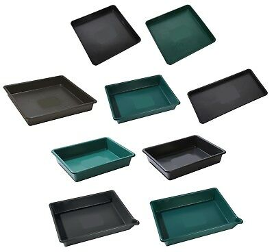 Heavy Duty Square Rectangle Plastic Tray Cement Mixing Tuff Spot Garden Grow Bag • 10.49£