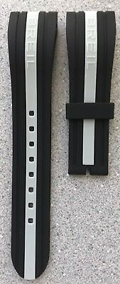 Breil Milano Watch Strap, Bw0324, Black Grey Line Rubber Strap , Bw0324 • 105.51£