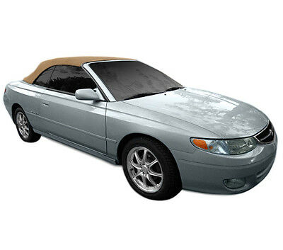$455 • Buy Fits:Toyota  Solara Convertible Top With Heated Glass Window 1999-2003 Tan Twill