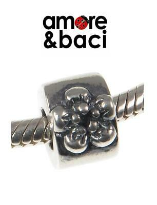 Genuine AMORE & BACI 925 Sterling Silver FLOWER SPACER Charm Bead • 15.99£